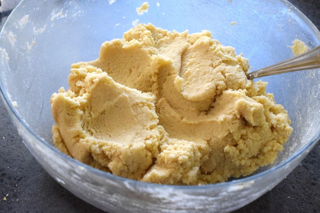 keto shortbread dough