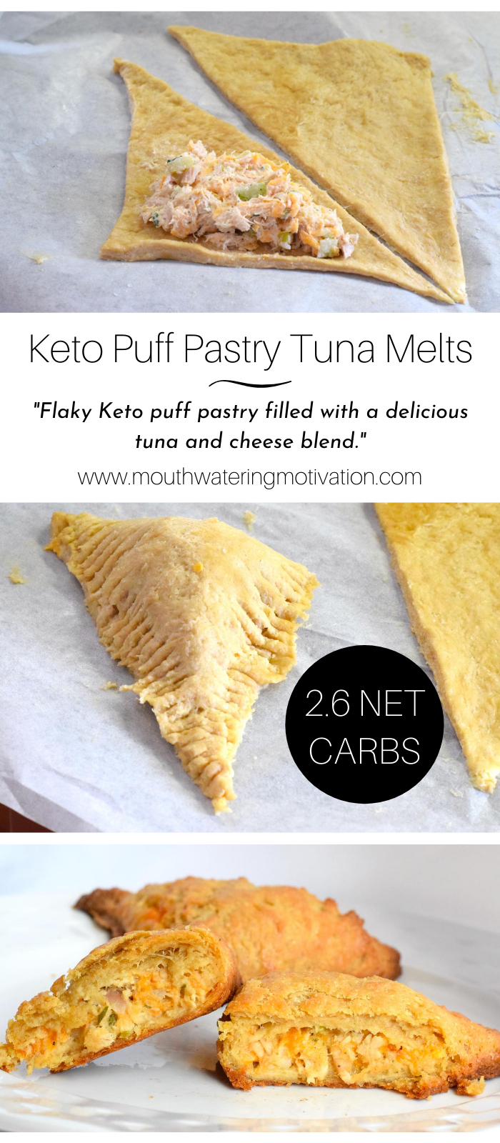Keto Puff Pastry Tuna Melts