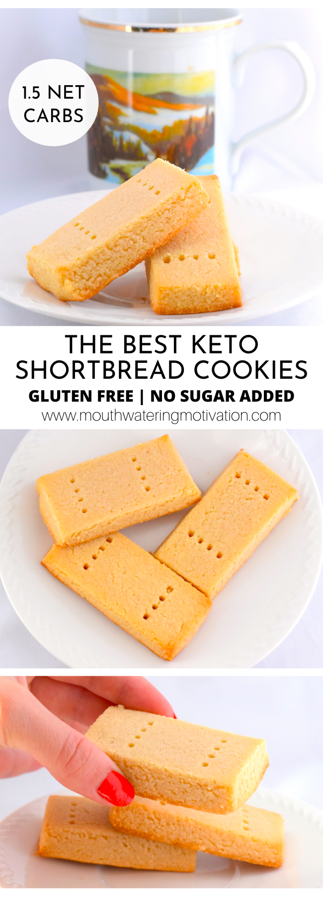 THE BEST KETO SHORTBREAD