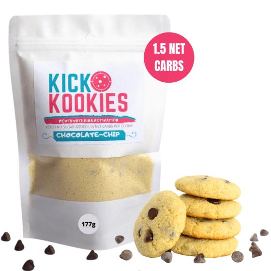 Kick Kookies Chocolate Chip Cookie Mix