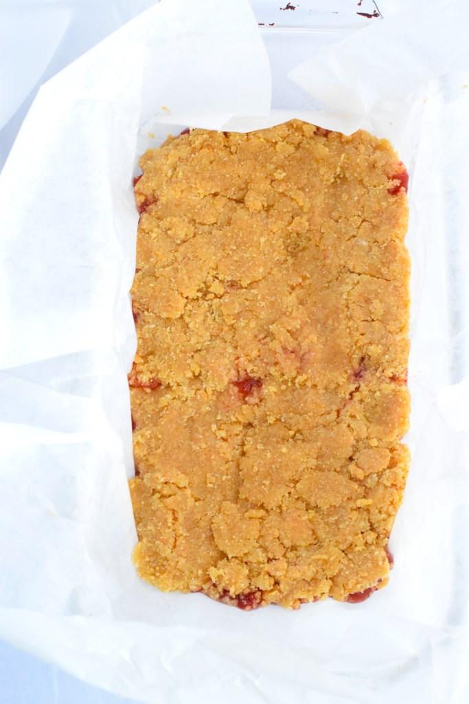 low carb peanut butter jam squares