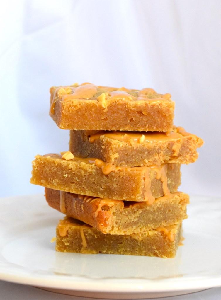 Low Carb Keto Peanut Butter Blondies
