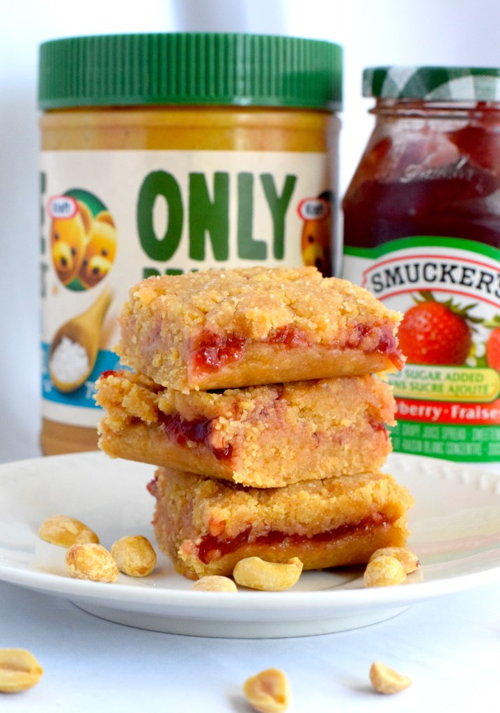 keto no bake peanut butter and jelly bars