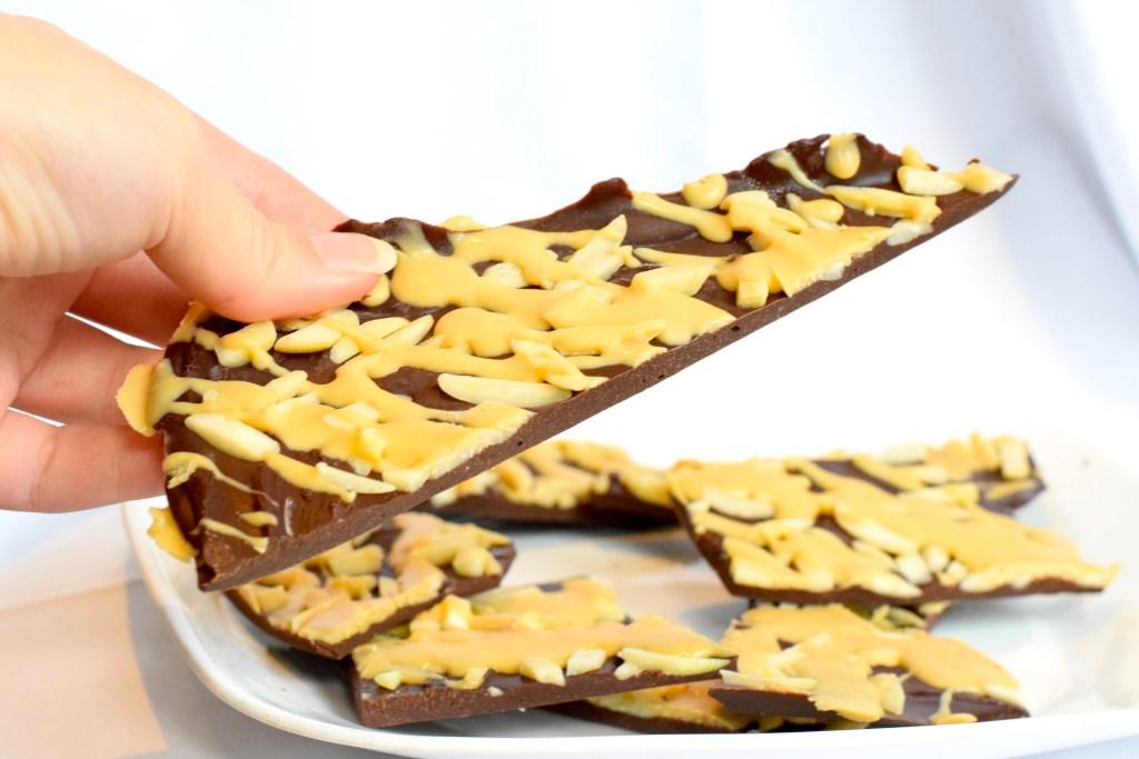 low carb chocolate caramel bark