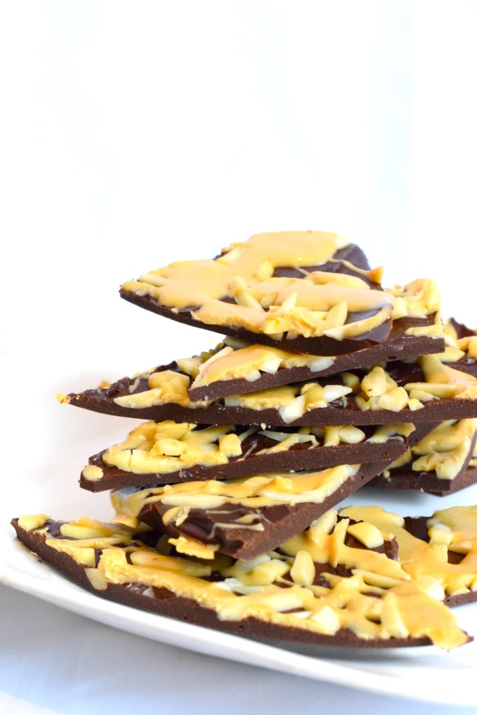 keto chocolate caramel low carb bark recipe