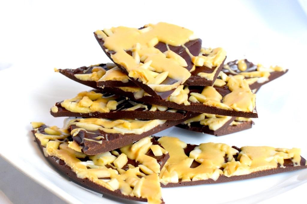 sugar free caramel chocolate bark