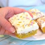 keto funfetti cake bars recipe