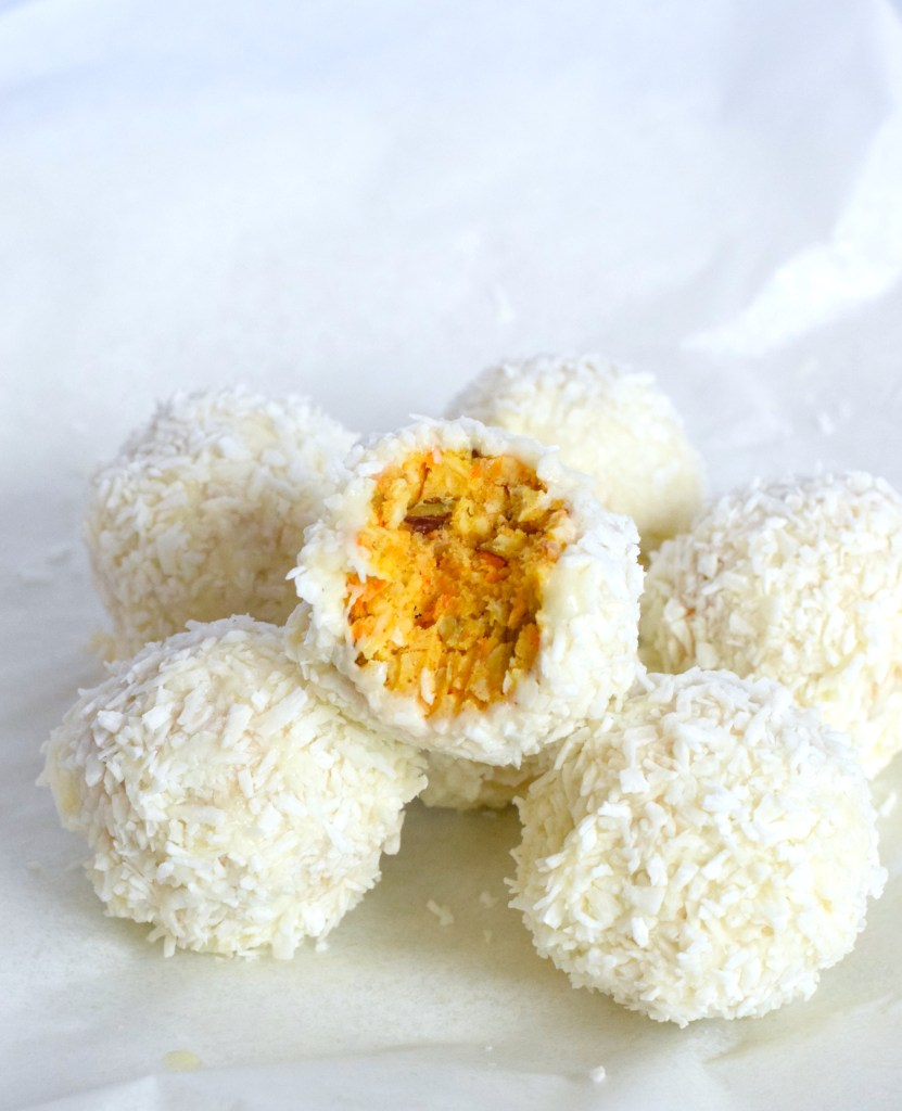 keto carrot cake balls recipe