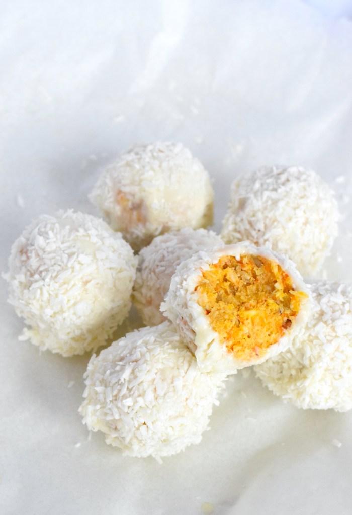 low carb carrot cake balls recipe