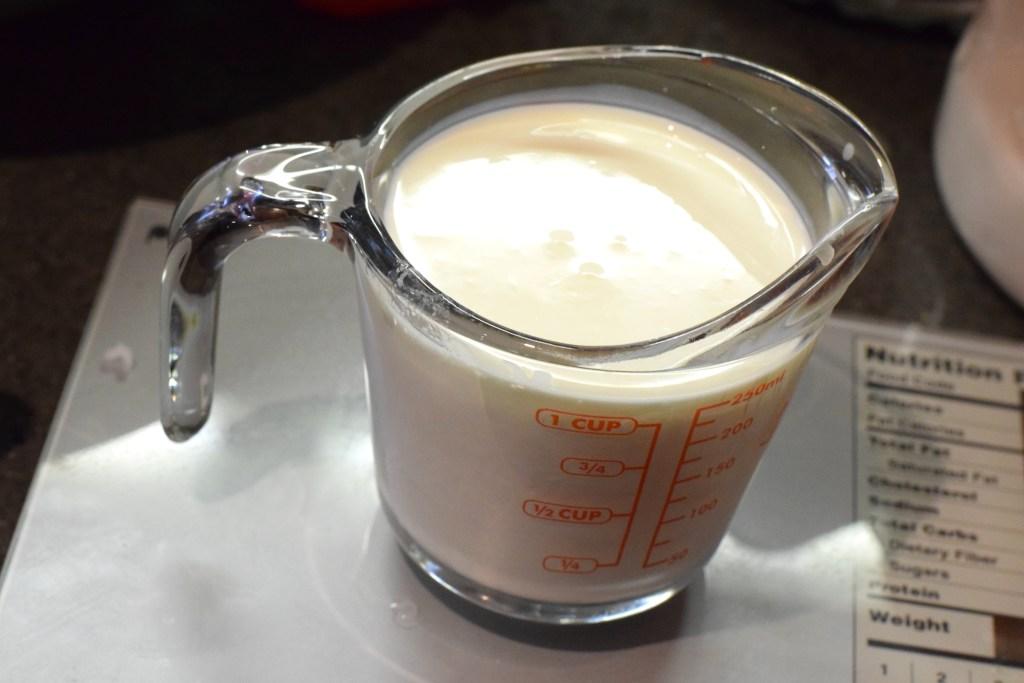 cream and vinegar