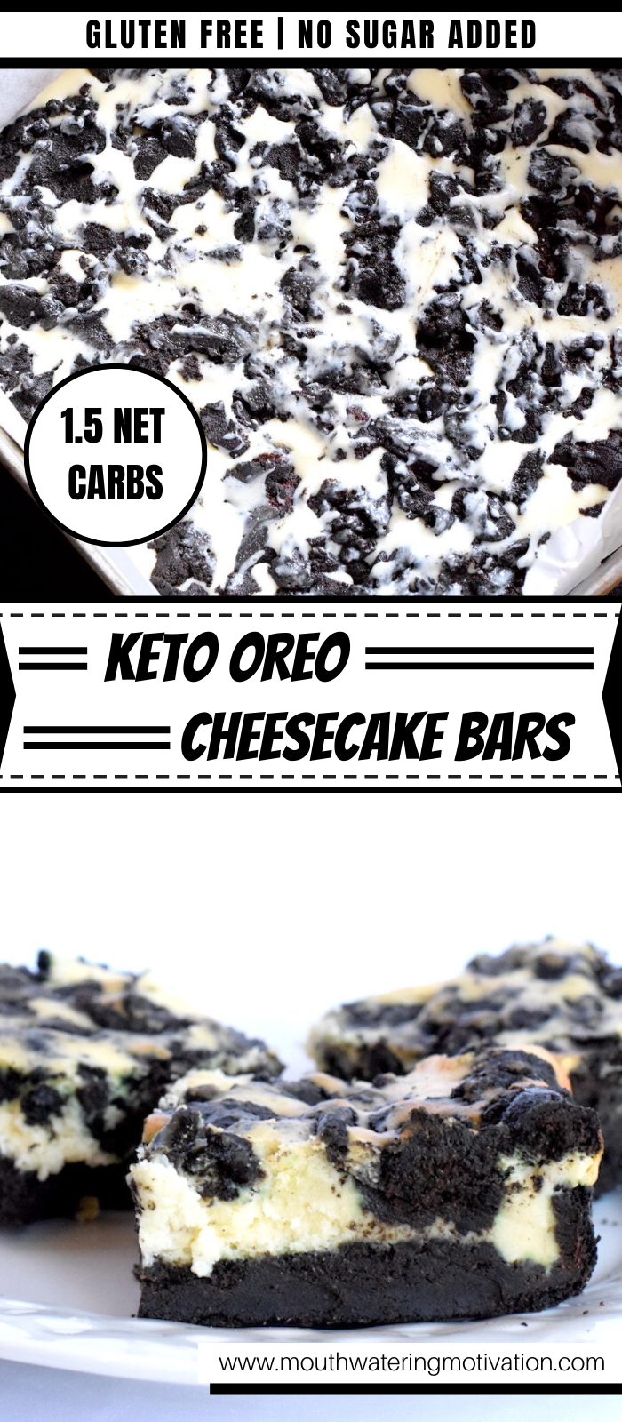 keto oreo cheesecake bars