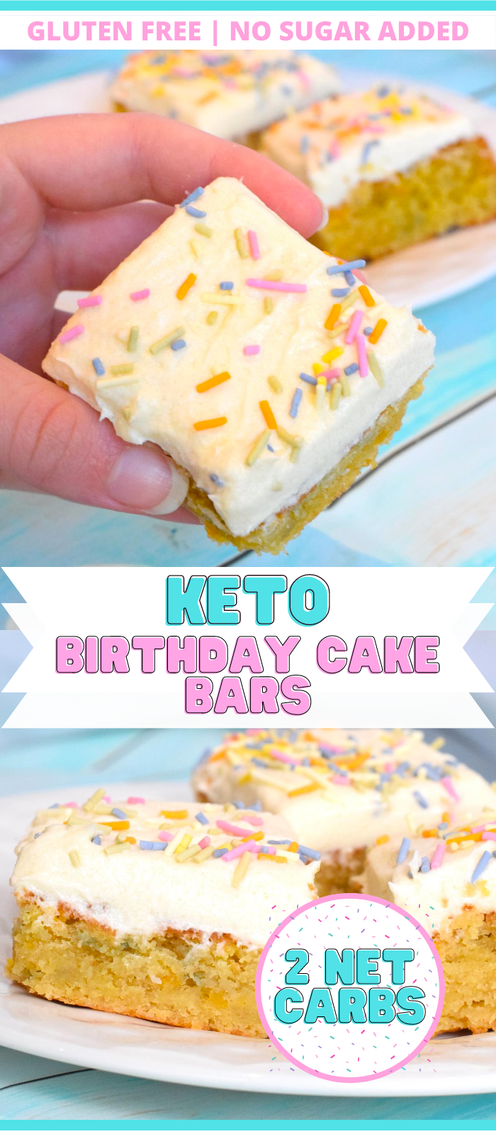 keto funfetti birthday cake bars