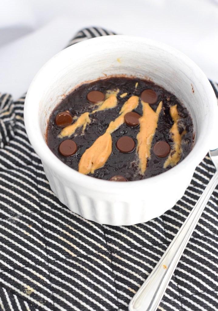 keto chocolate coconut flour mug cake