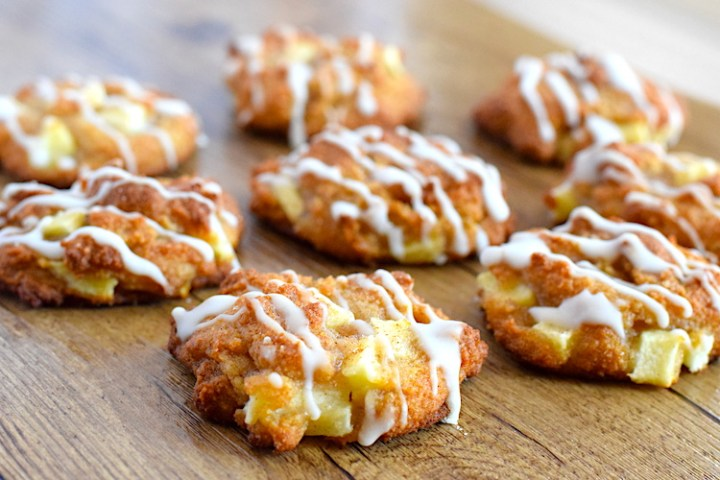 keto apple fritter cookies