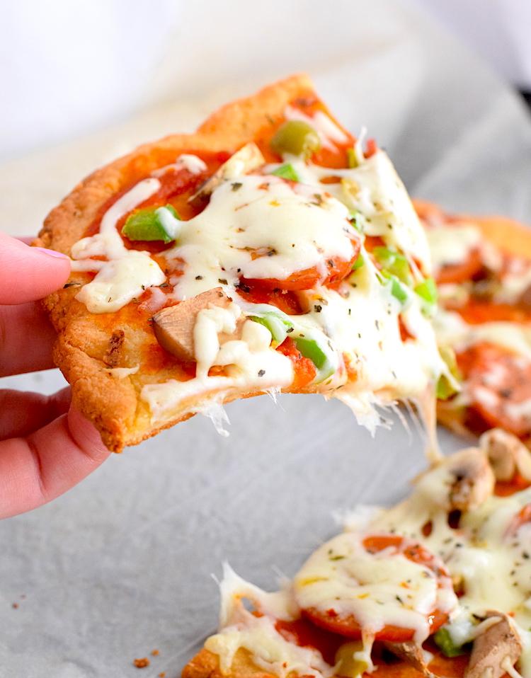low carb almond flour pizza crust
