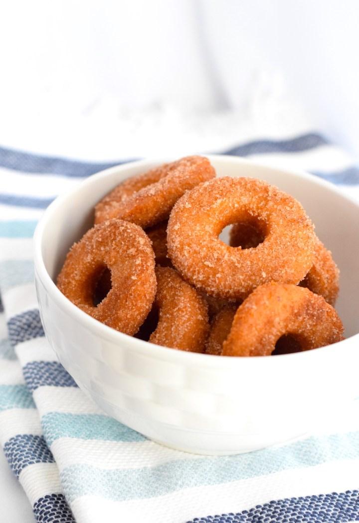 The Best Keto Fried Cinnamon Sugar Donuts