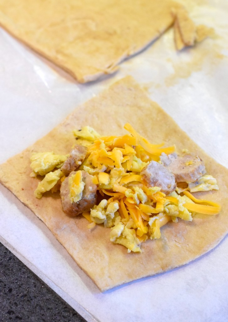 keto sausage egg cheese breakfast pastry