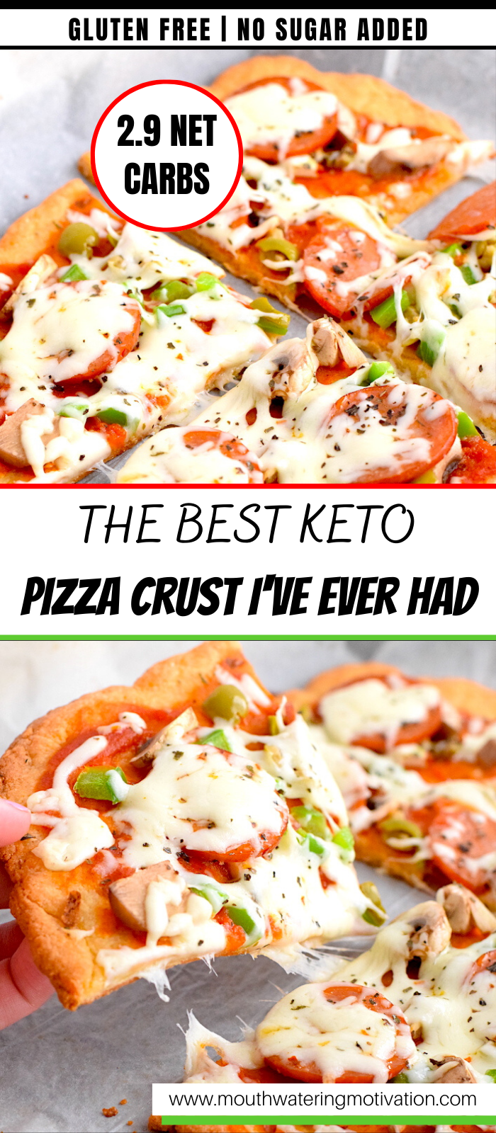 the best keto pizza crust i've ever made