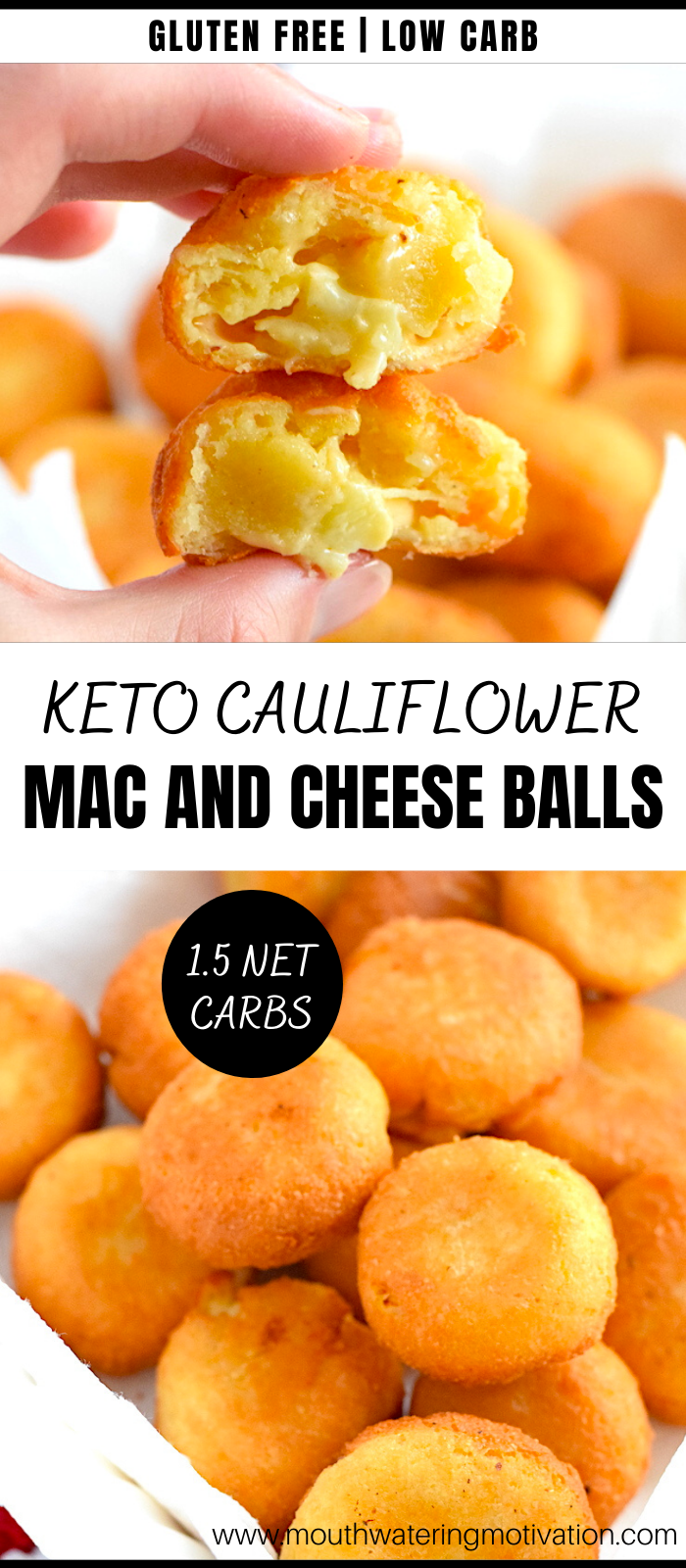 Keto Cauliflower Mac and Cheese Balls