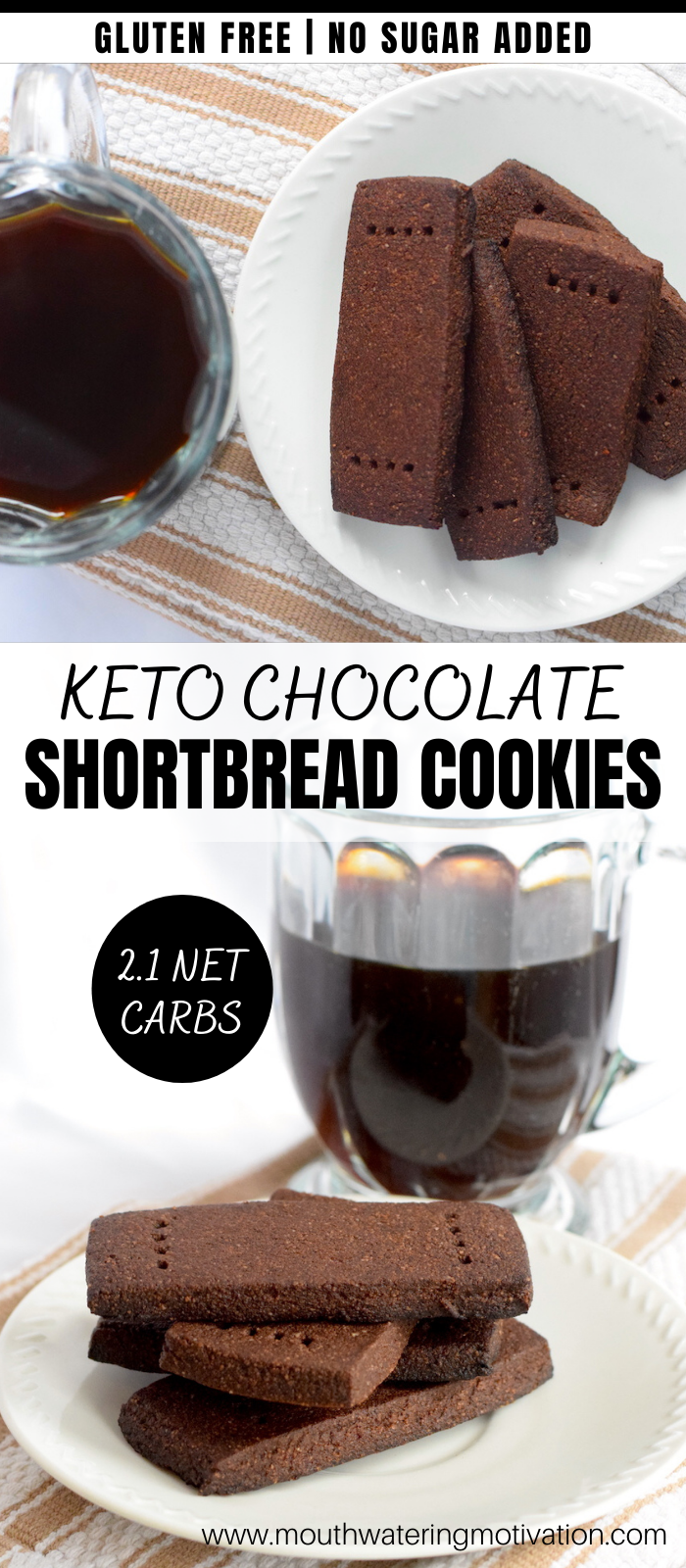 Keto Chocolate Shortbread Cookies