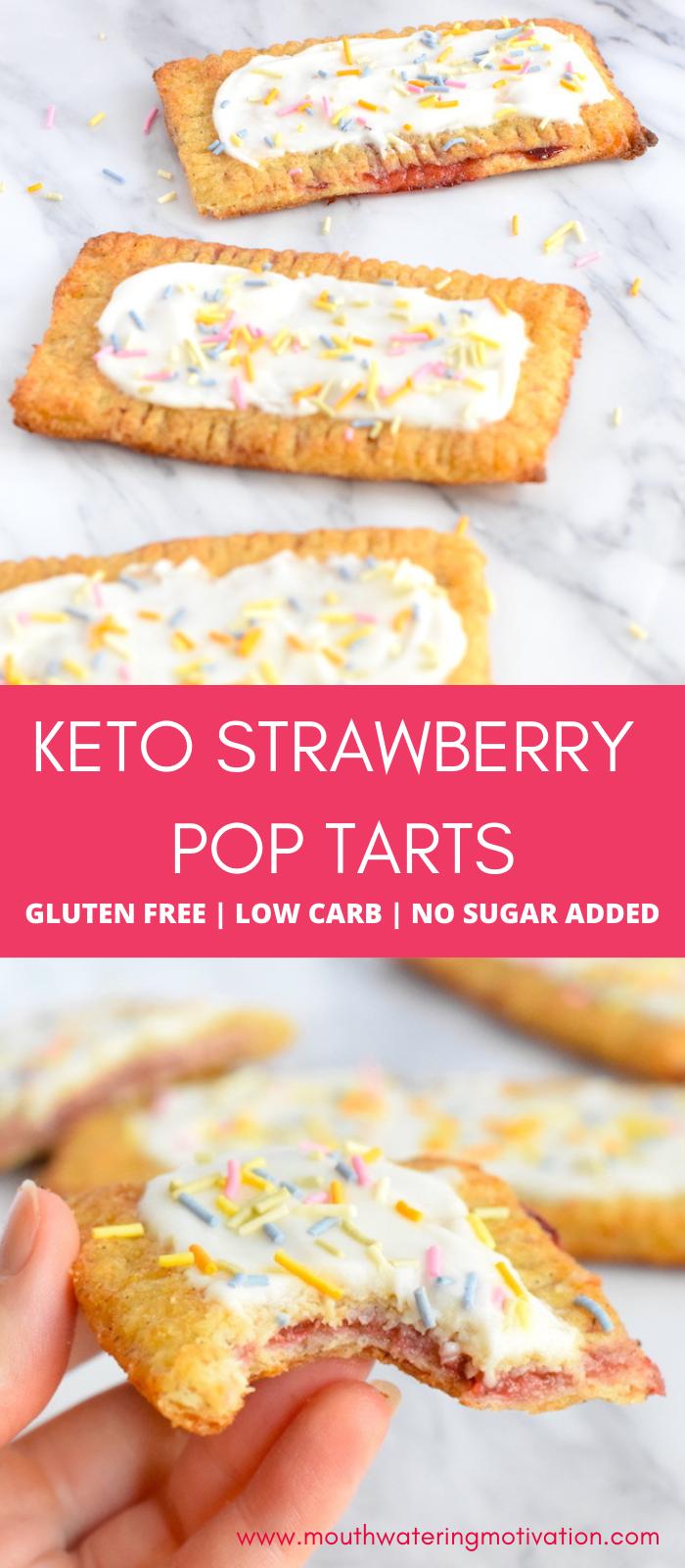 keto strawberry pop tarts