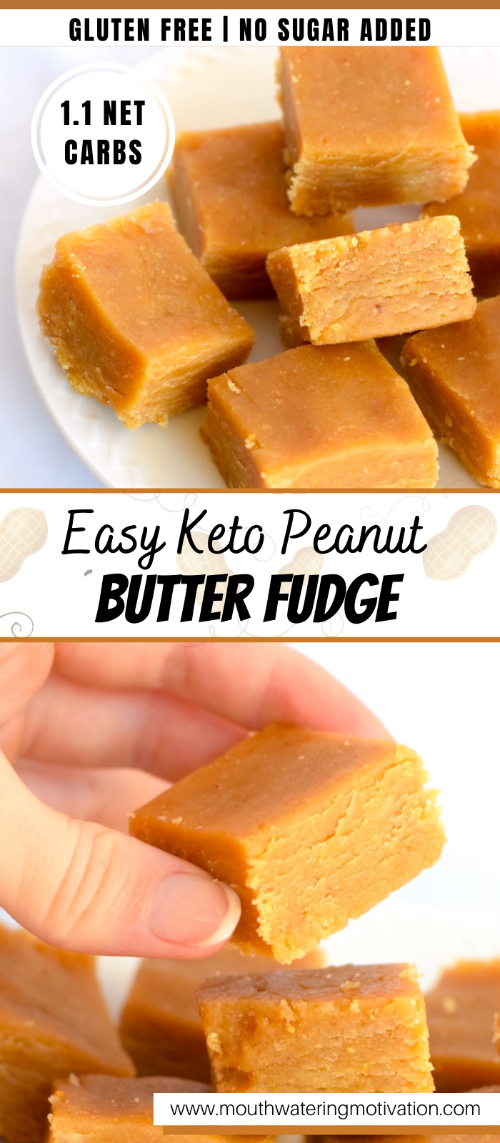 Easy keto peanut butter fudge