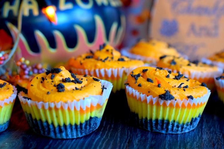 Keto Candy Corn Cheesecakes