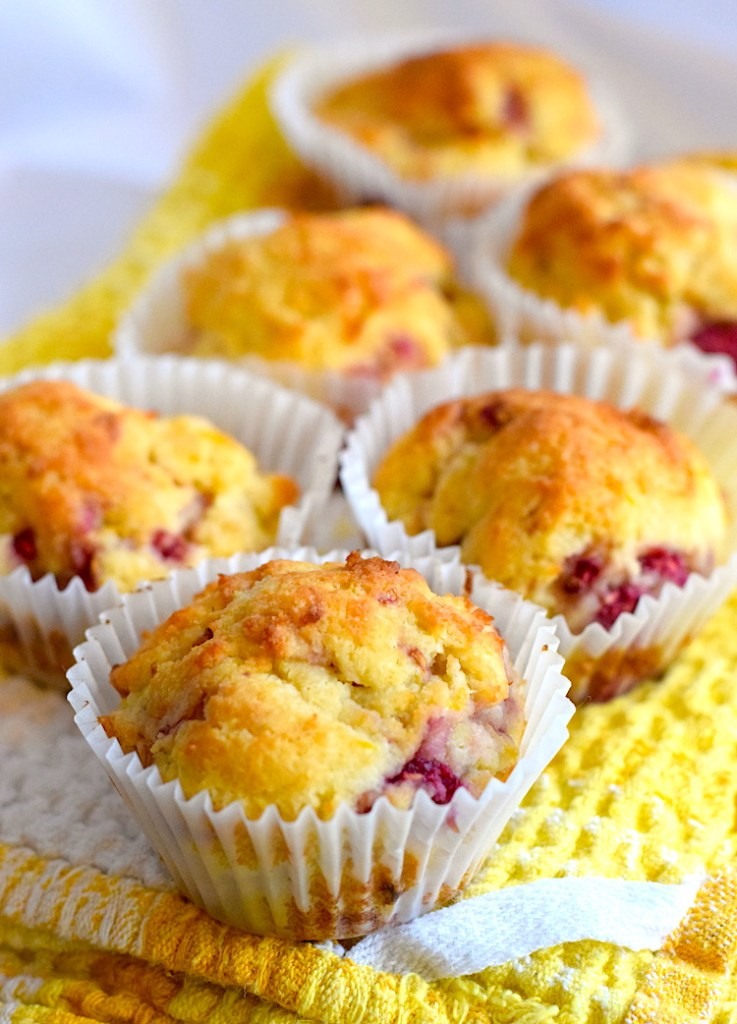 low carb lemon raspberry muffins
