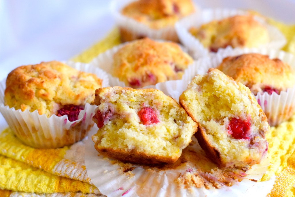 coconut flour lemon raspberry muffins