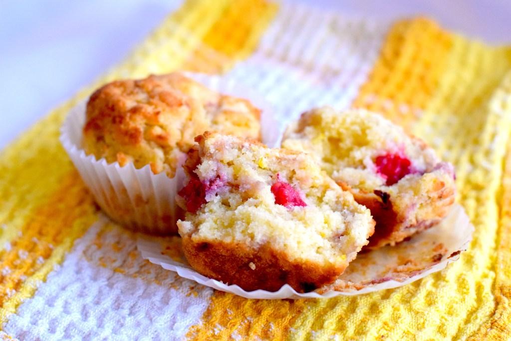 almond flour lemon raspberry muffins