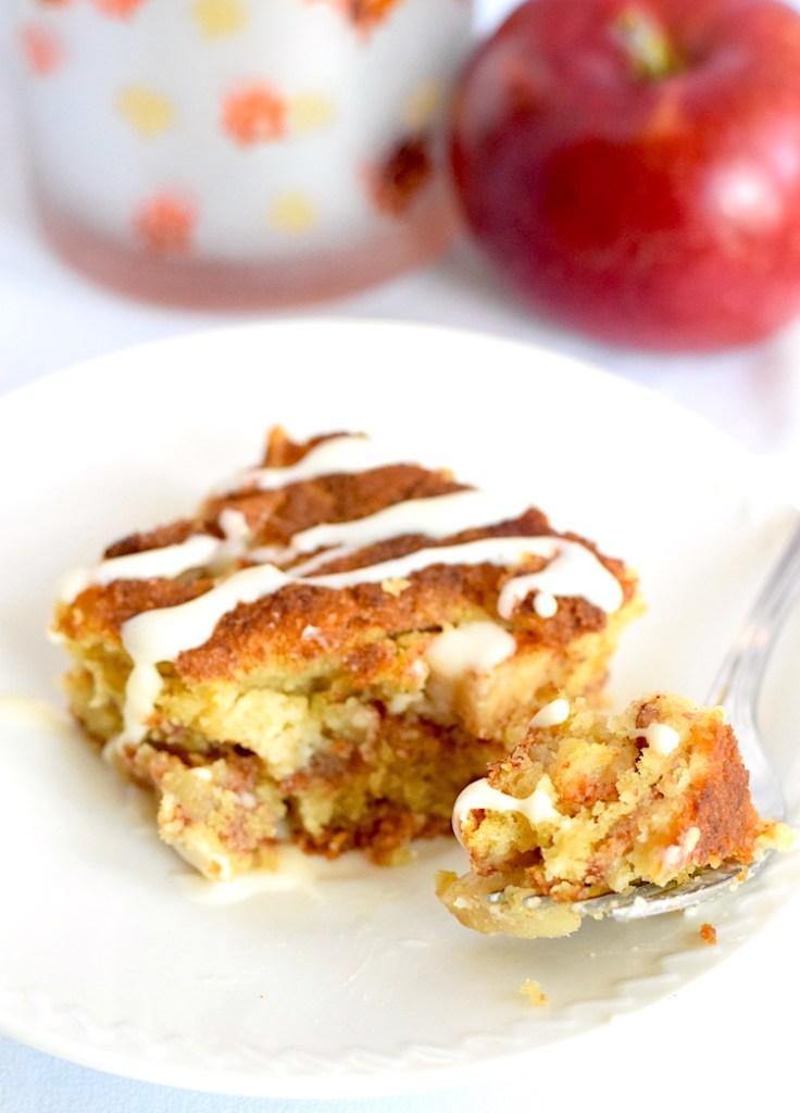 keto cream cheese glazed apple cake