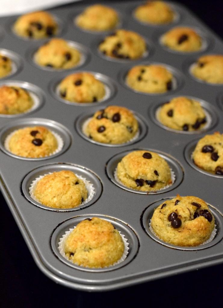keto mini banana chocolate chip muffins recipe