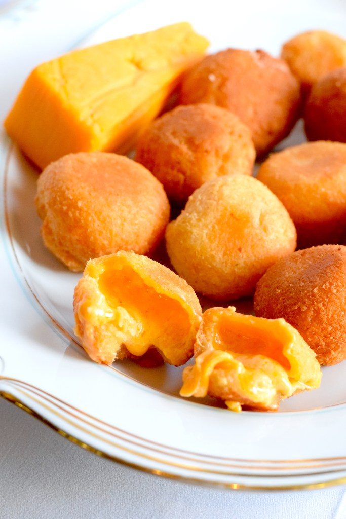 low carb fried three cheese balls