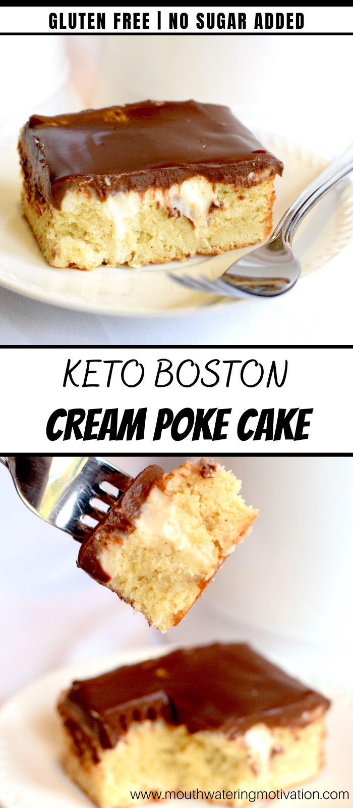 keto boston cream poke cake recipe