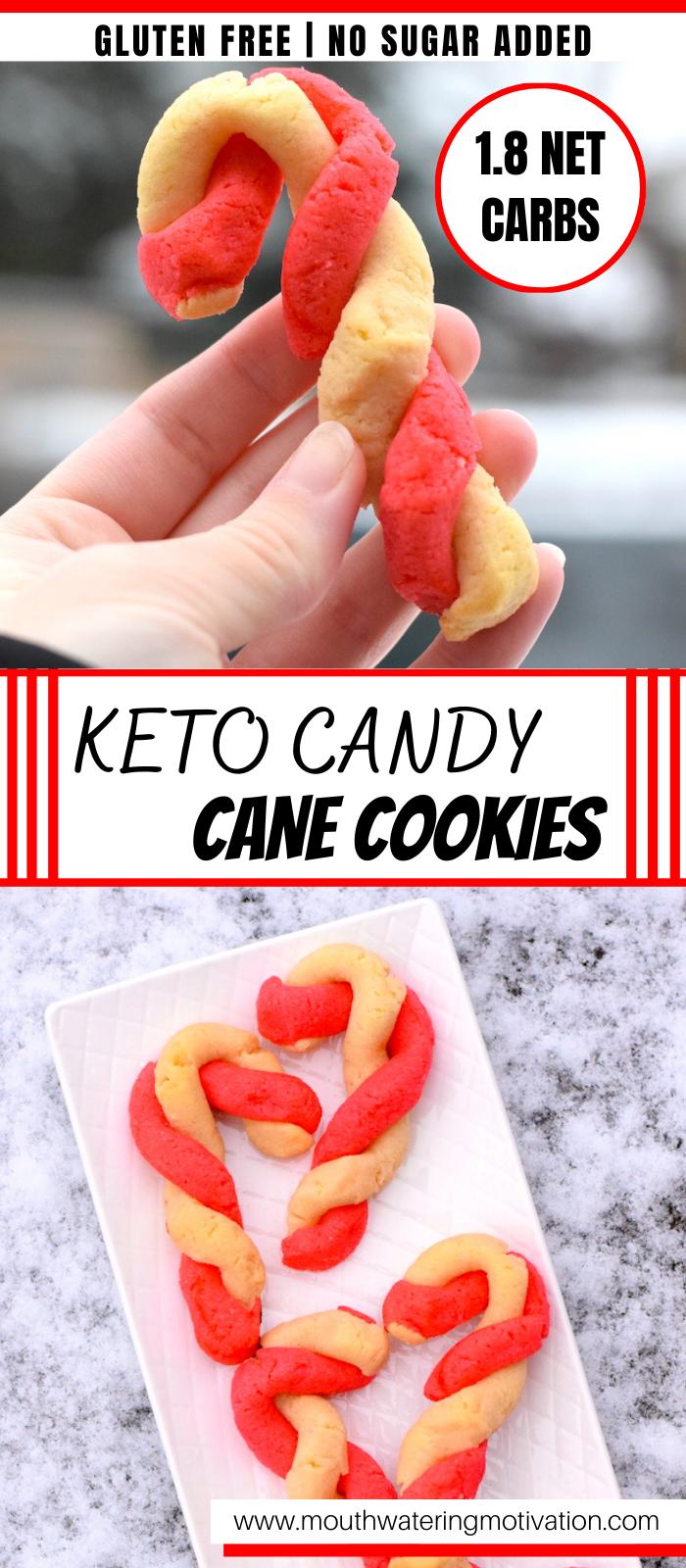 keto candy cane sugar cookies recipe
