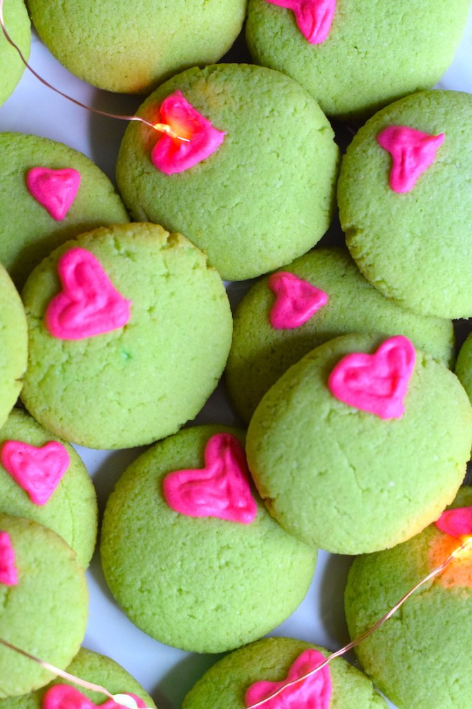 low carb grinch cookies