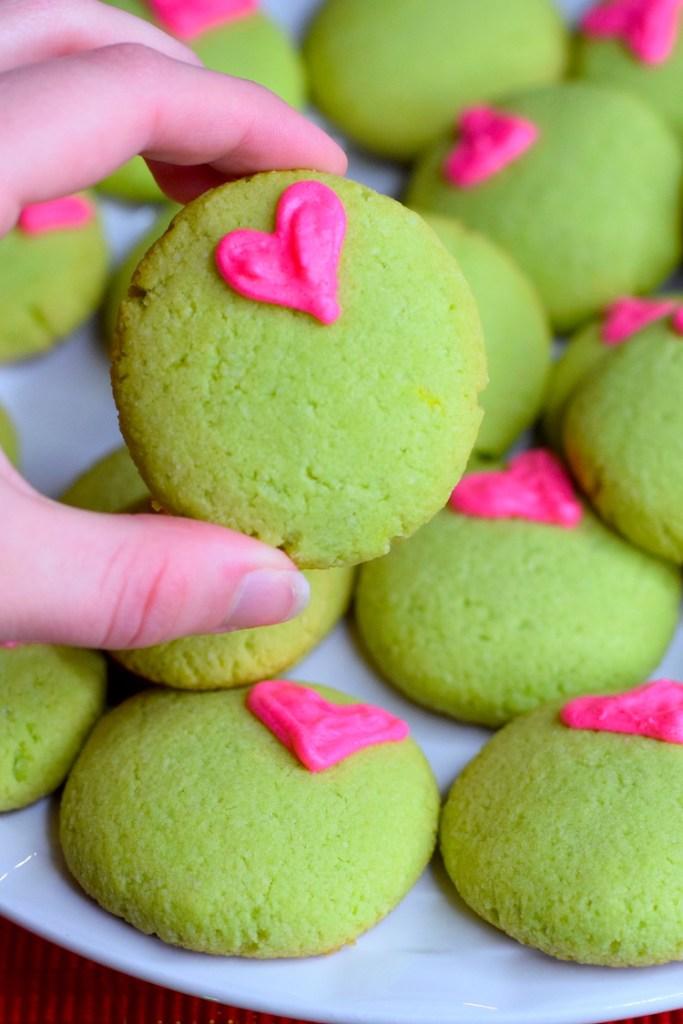 low carb grinch sugar cookies