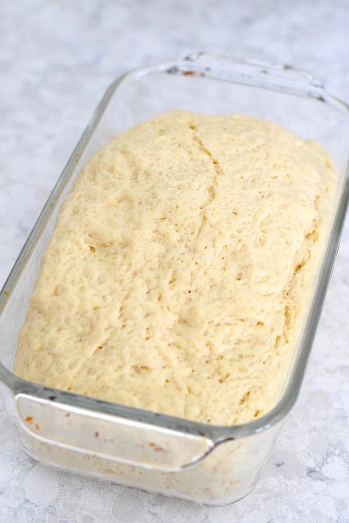 keto bread dough rising