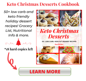 keto christmas desserts cookbook