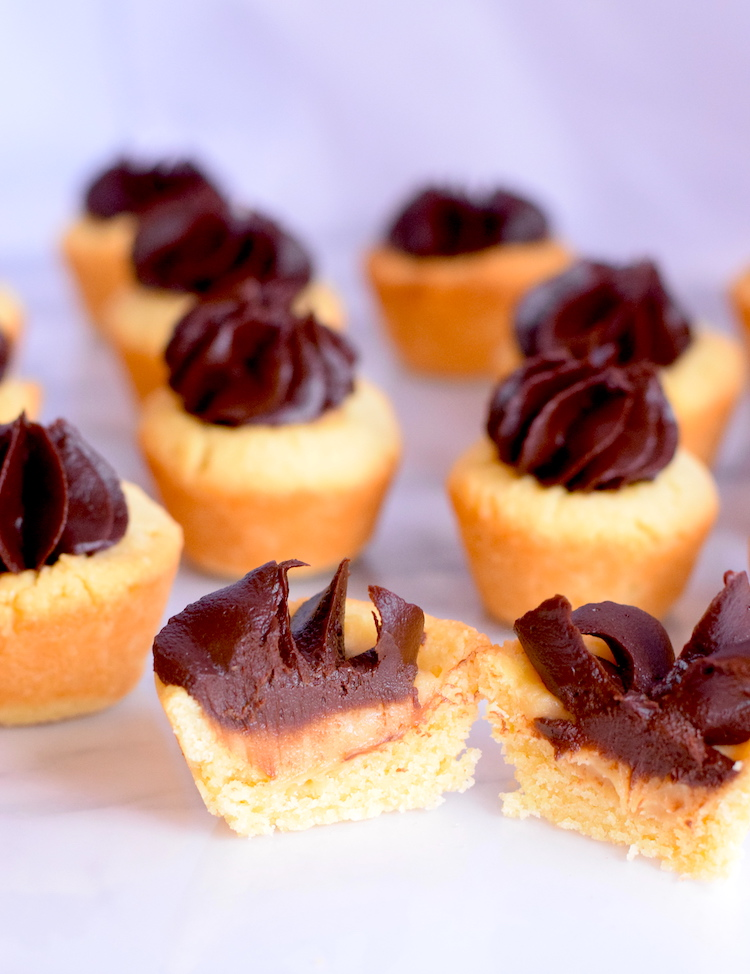 keto cookie twix cups