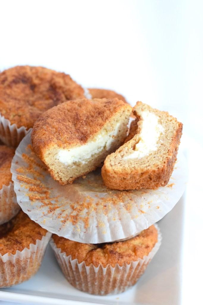 keto cream cheese stuffed muffins