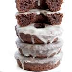 keto glazed baked chocolate donuts