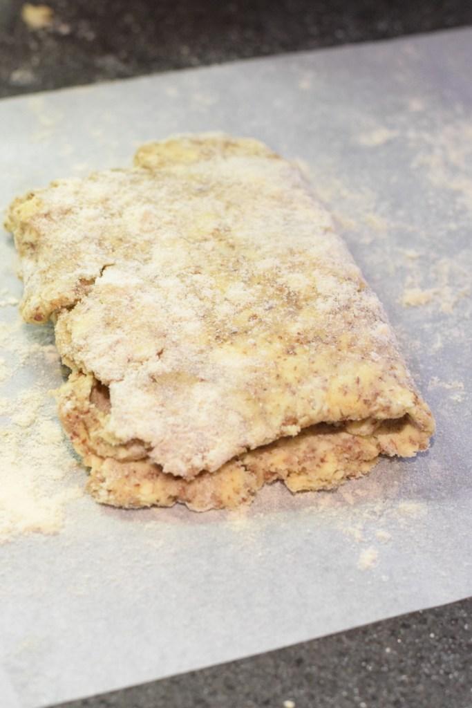 keto coconut flour pastry folded