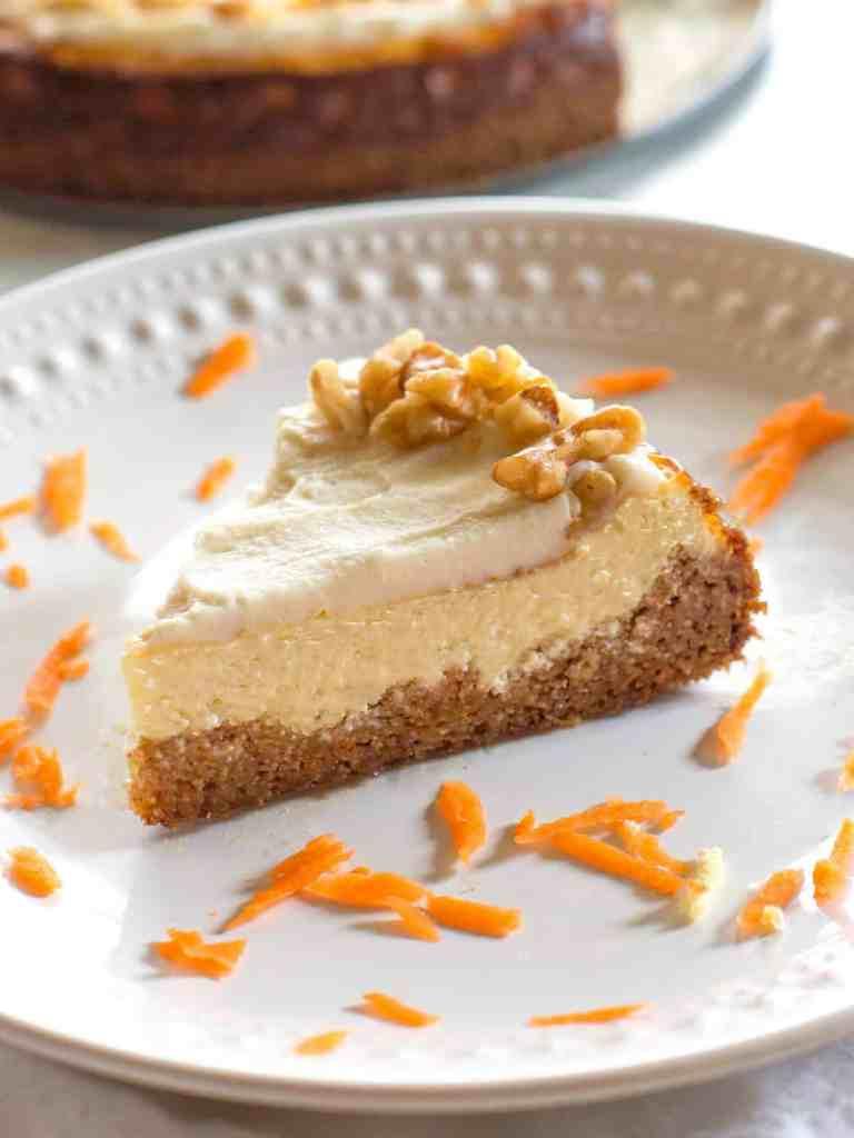 keto carrot cheesecake