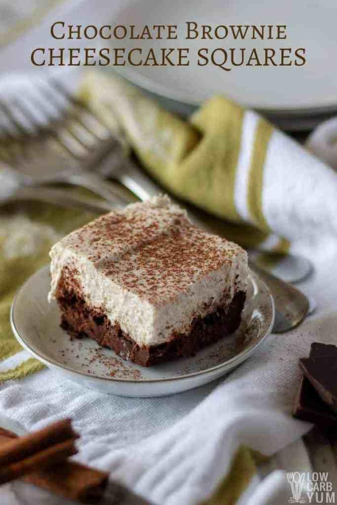 keto cream cheese brownies cheesecake squares