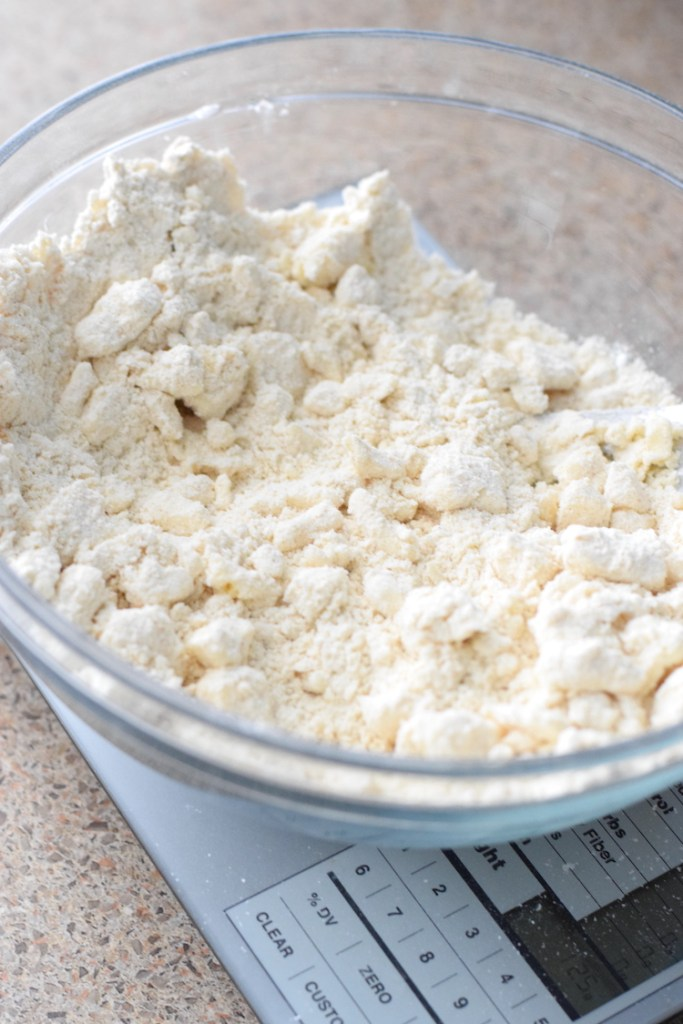 cold butter cut into low carb flour