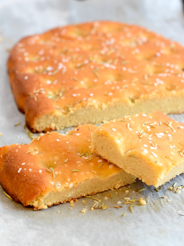 keto almond flour focaccia