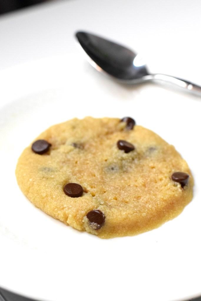 keto microwave chocolate chip cookie
