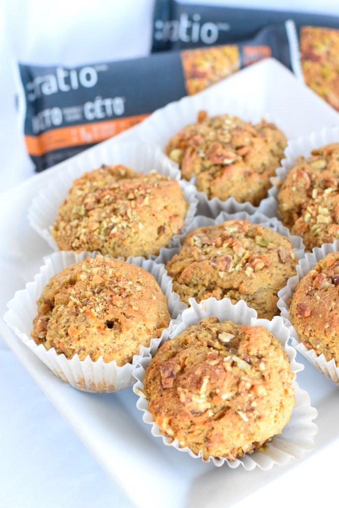 keto ratio bar muffins