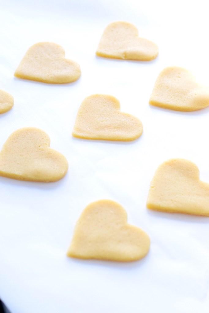 keto heart shaped sugar cookies